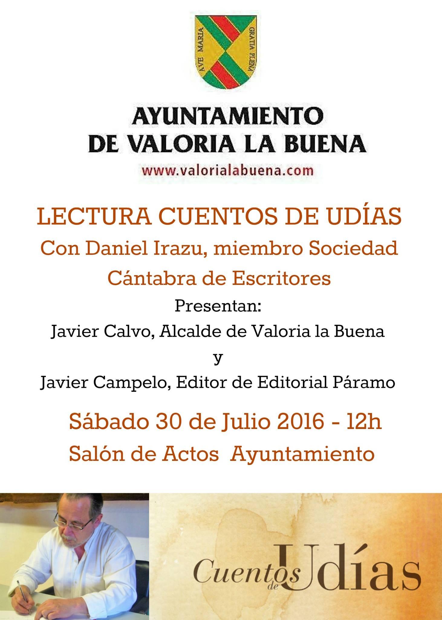 """30/07: LECTURA-PRESENTACIÓN DEL LIBRO """"CUENTOS DE UDÍAS"""""""