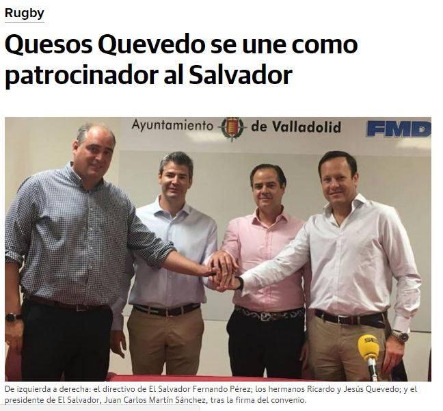 Quesos Quevedo se une al Club de Rugby El Salvador como uno de sus nuevos patrocinadores
