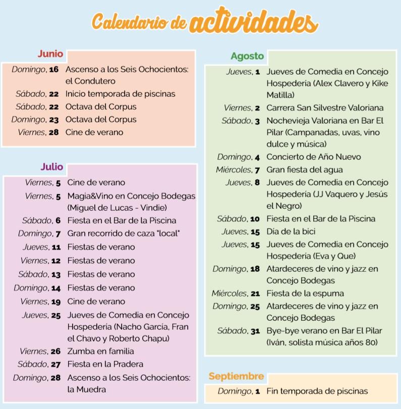 PROGRAMA DE ACTIVIDADES DEL VERANO 2019