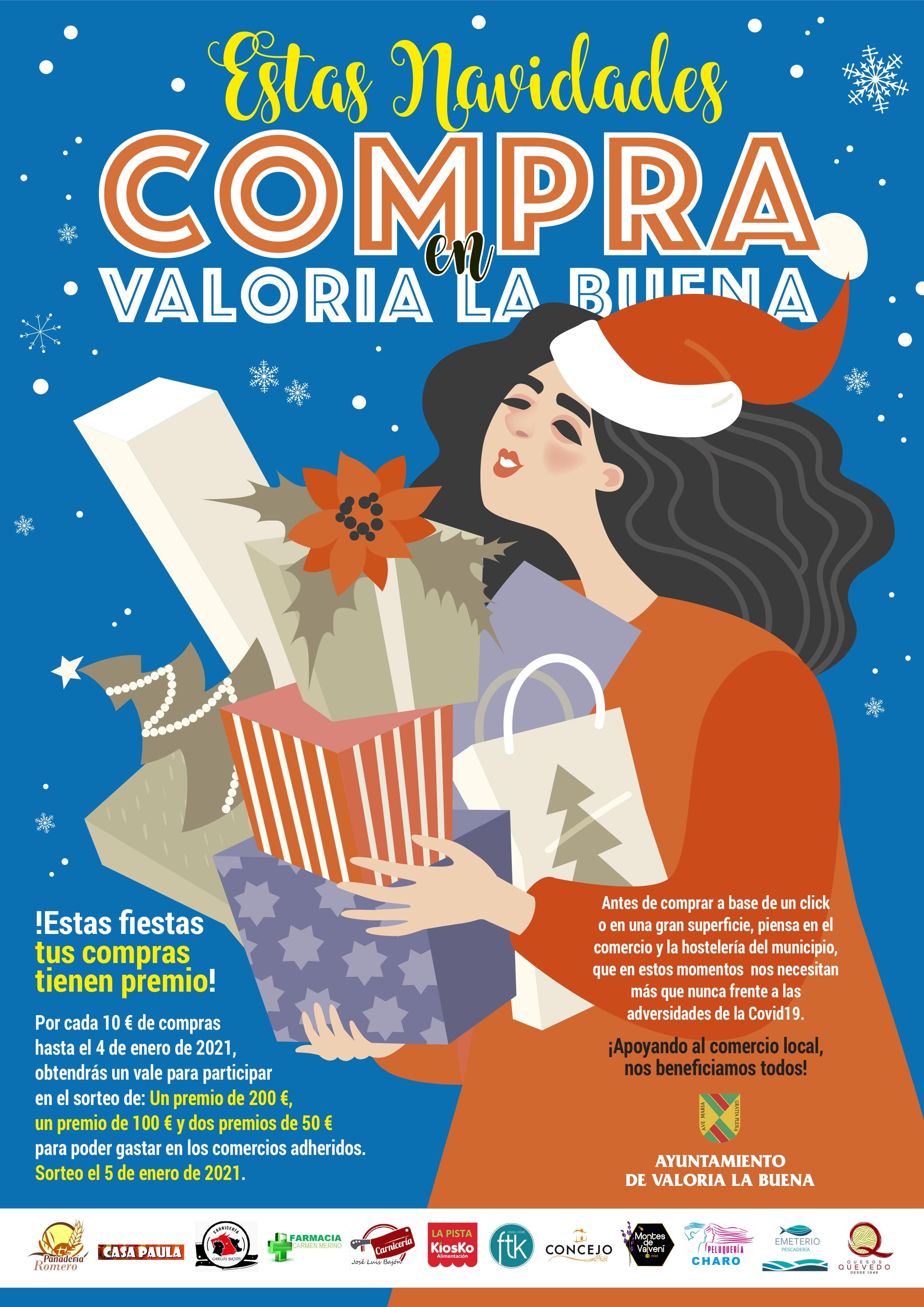 CAMPAÑA DE NAVIDAD DE APOYO AL COMERCIO LOCAL: COMPRA EN VALORIA LA BUENA