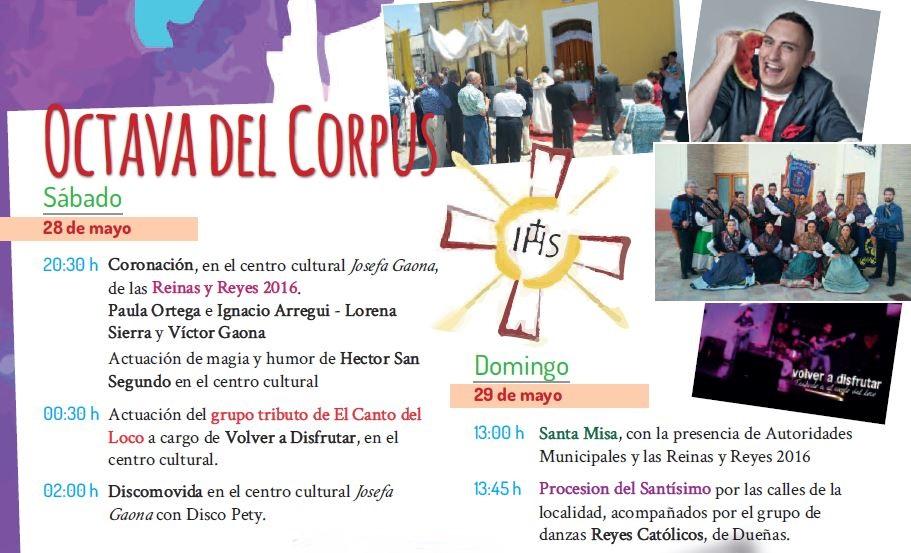 28 y 29/05: OCTAVA DEL CORPUS