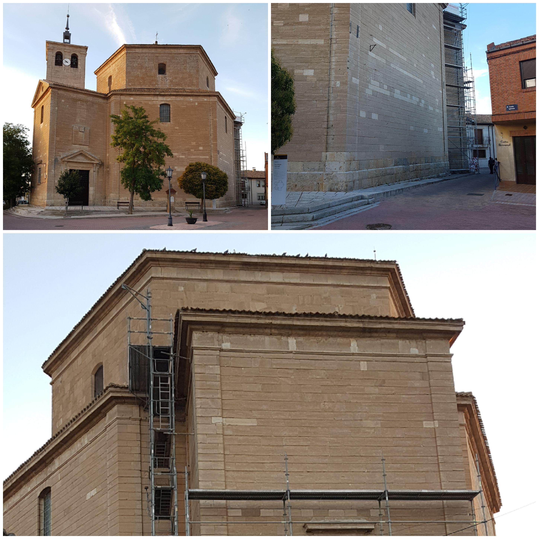COMIENZAN LAS OBRAS DE RESTAURACION DEL TEJADO DE LA ZONA DEL ALTAR DE LA IGLESIA DE SAN PEDRO APOSTOL