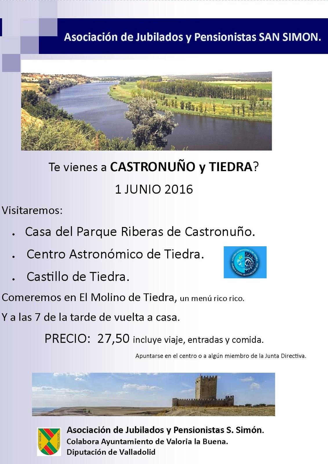 01/06: EXCURSIÓN A CASTRONUÑO Y TIEDRA