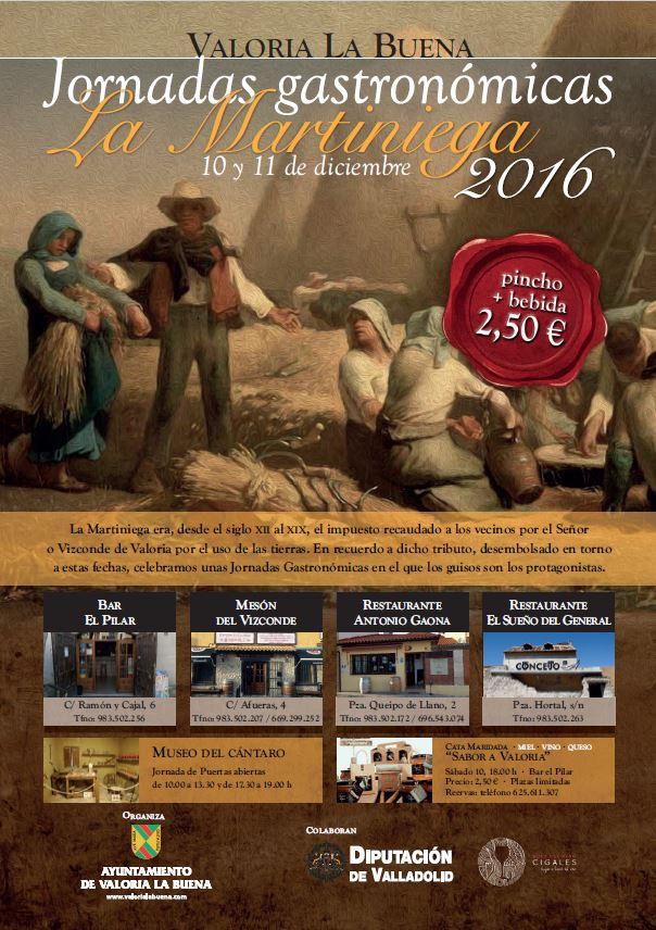 """10 y 11/12: JORNADAS GASTRONÓMICAS DE """"LA MARTINIEGA"""""""
